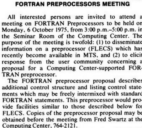 FORTRAN meeting